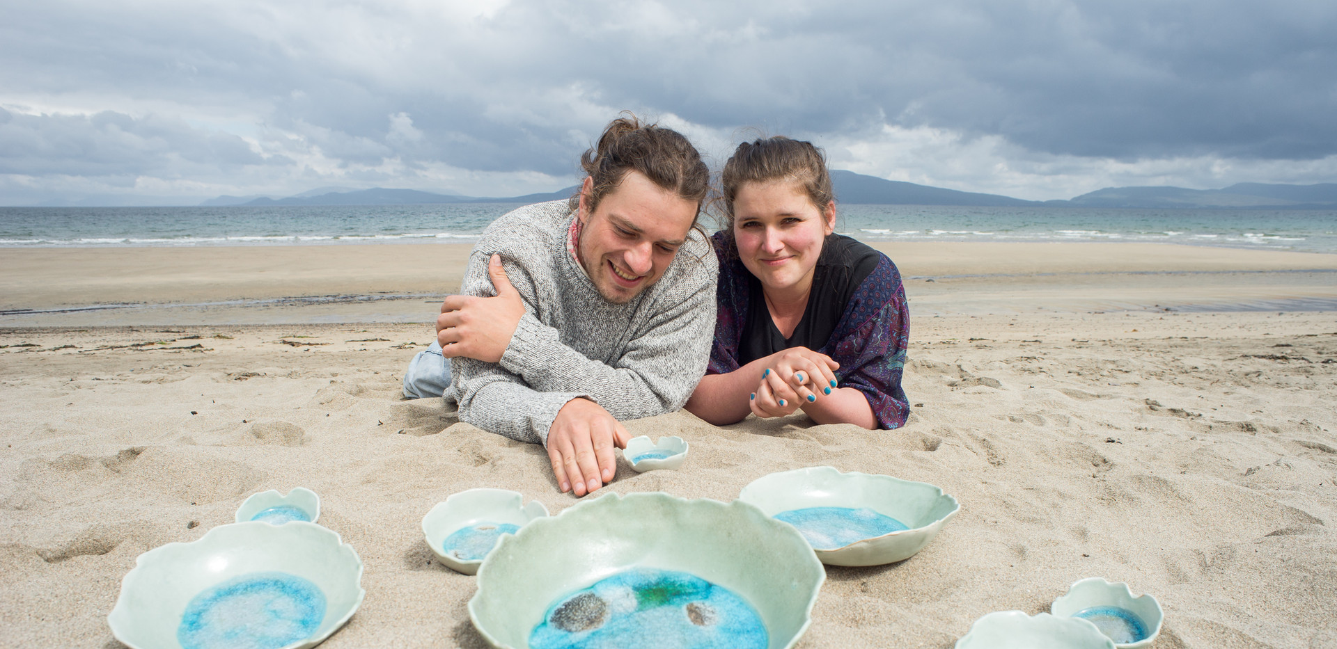 Ella and Lukasz Szczerbak The Mood Designs Irish ceramics inspired by wild atlantic way sea bowls pottery handmade in ireland