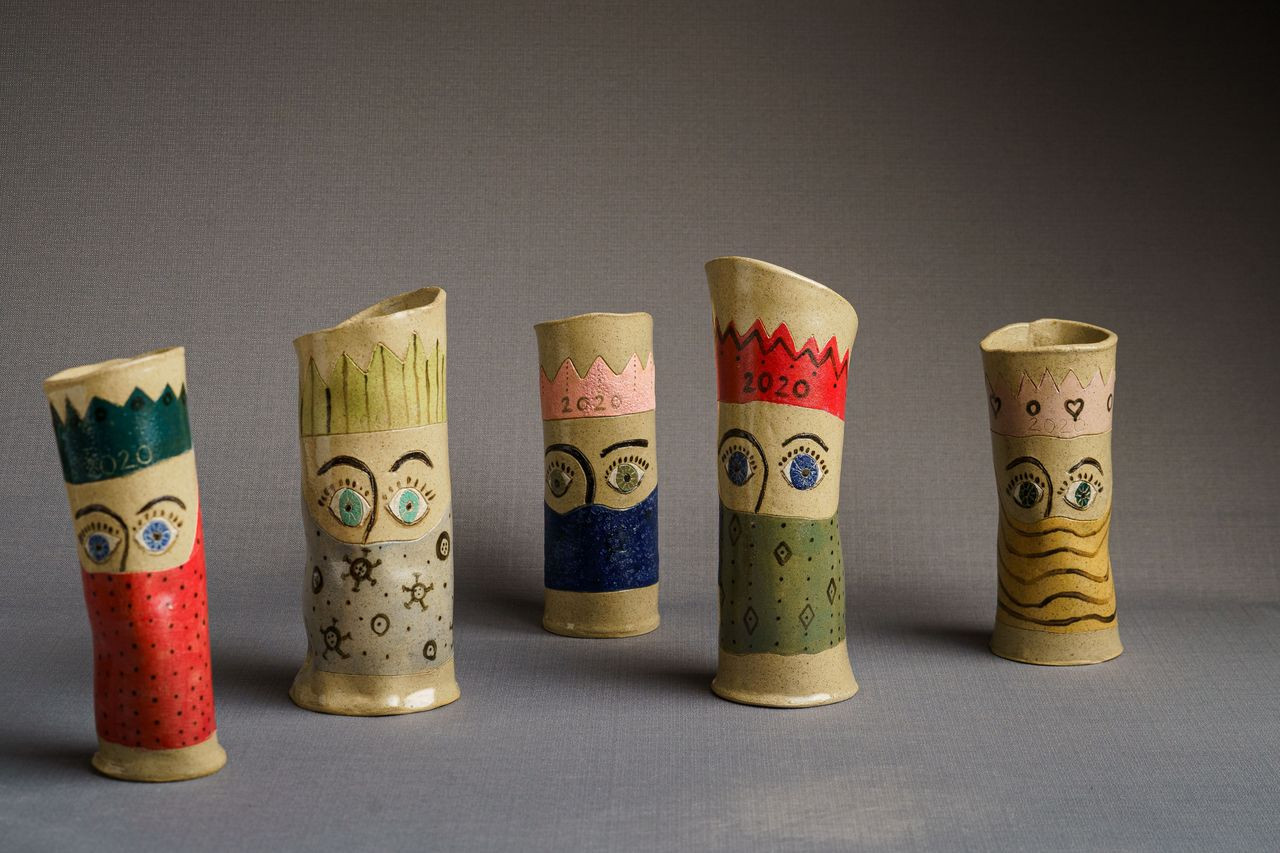 Lockdown Vases Irish Ceramics made durin