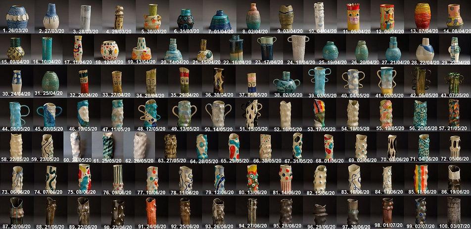 Irish ceramics pottery County Mayo collection 100 vases Lockdown Va