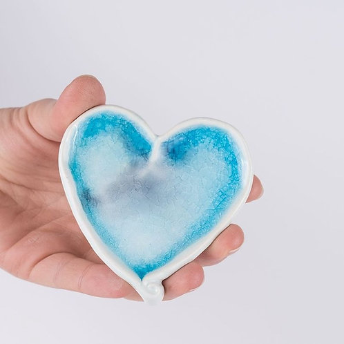 Ceramic heart wall ornament with box