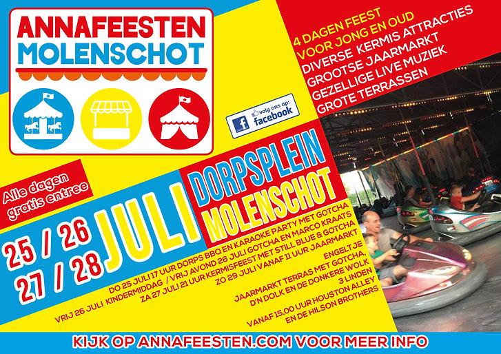 Annafeesten Molenschot 2019 Poster ligge