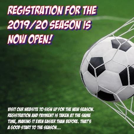 Register for the new season!