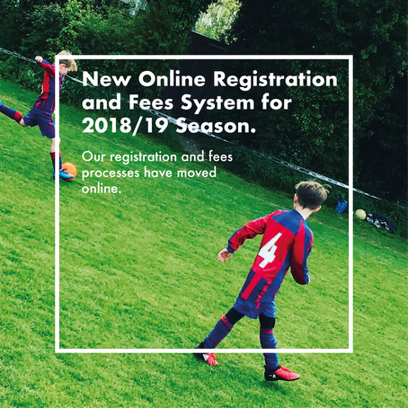 New online registration forms and payment