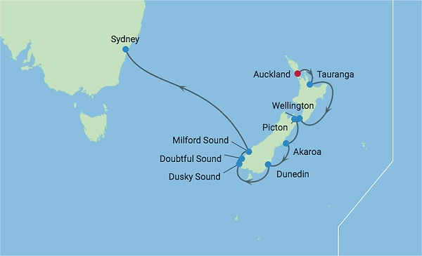 10 New Zealand Cruise from Auckland, New