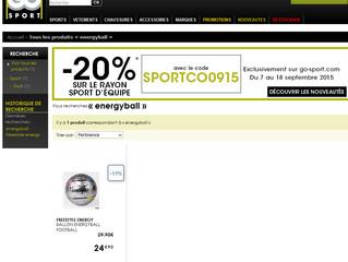 """EnergyBall"" sold on GoSport !"