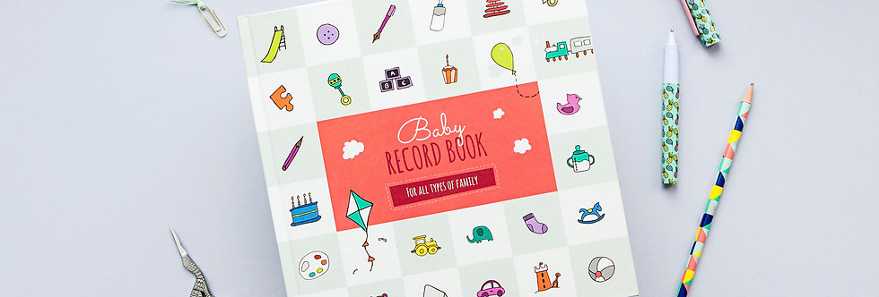 Baby Record Book Pink Cover Little Pickle Memories