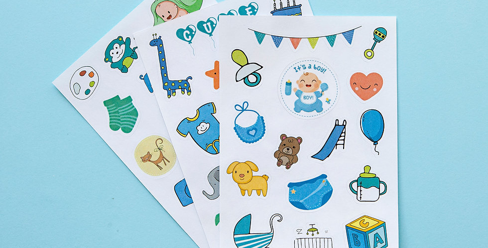 Baby Boy Sticker Sheet Set