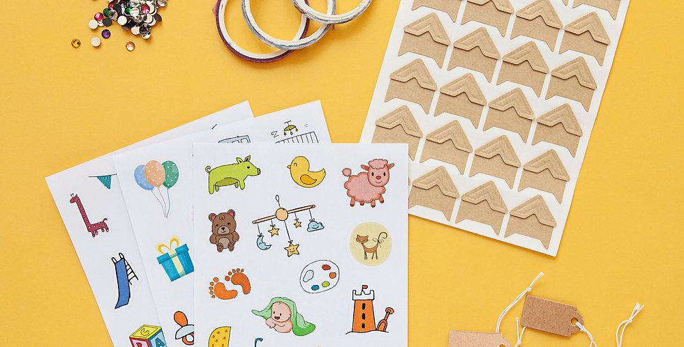 Unisex Sticker and Accessories Set
