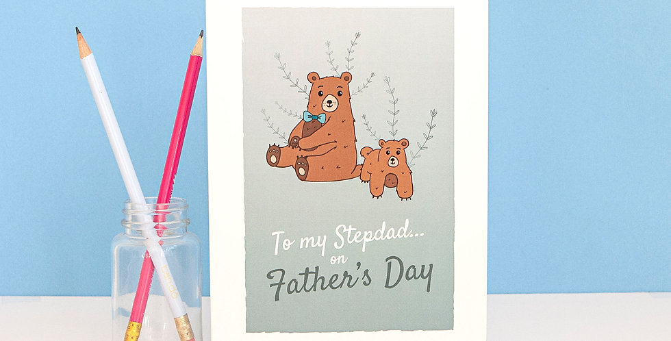 Blue To my Stepdad on Father's Day Card