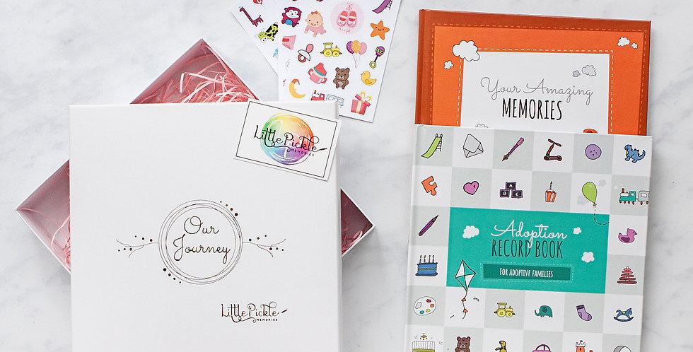 Toddler Adoption Book Gift Set (Adoption Journal, Growing Up Book & Stickers)