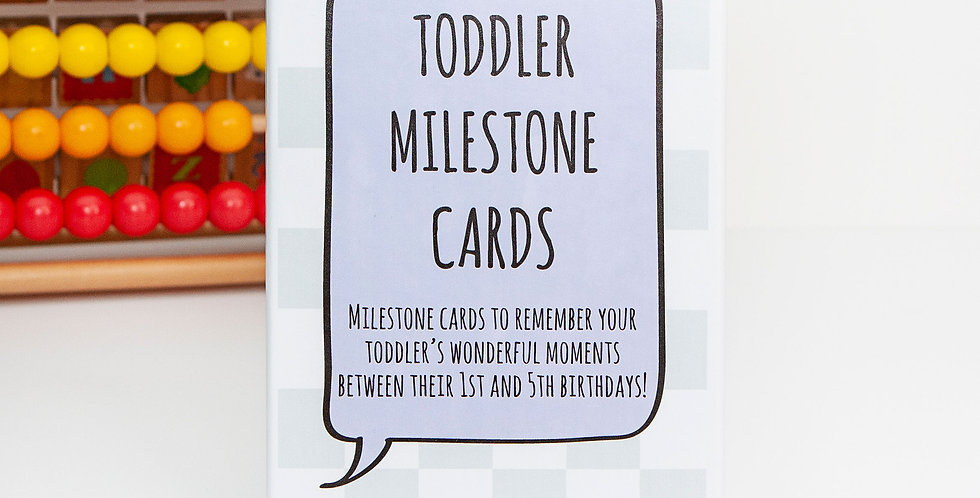Toddler Milestone Card Pack with Keepsake Box