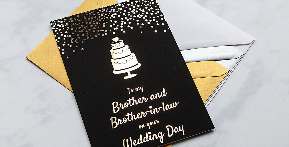 Brother and Brother in Law Wedding Day Card