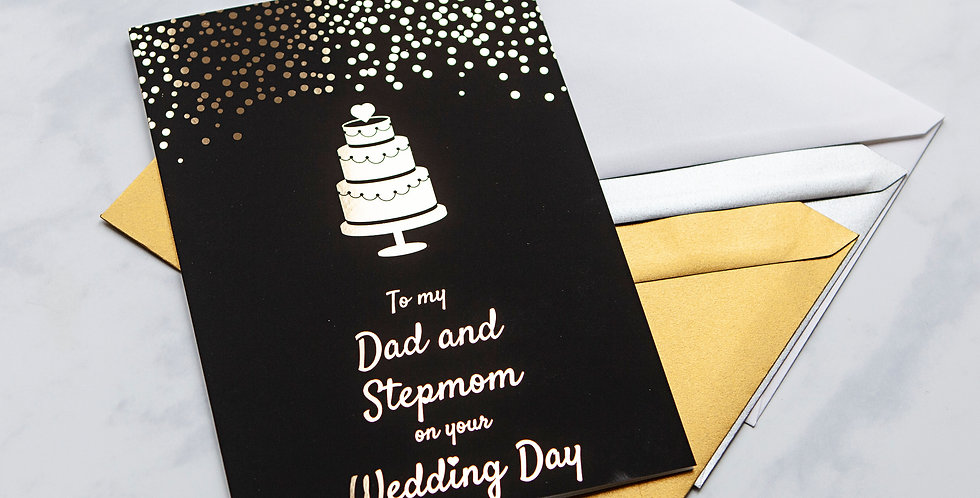 Dad and Stepmom Wedding Day Card