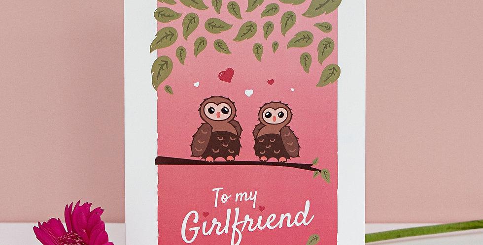 To my Girlfriend Valentines Card Valentines Day Lesbian
