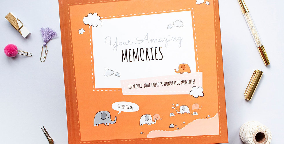 Growing Up Book Orange Memory Book