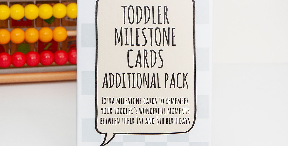 Additional Toddler Milestone Card Extra Pack