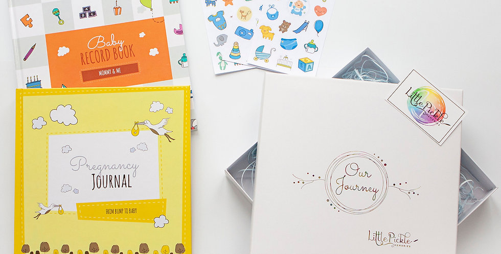Single Mom Gift Box Set (Pregnancy Journal, Mommy and Me Book and Sticker Sheet)