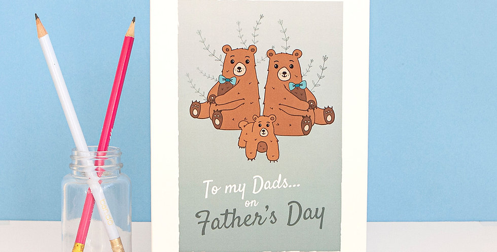 To my Dads on Fathers Day Greetings Card Two Gay Dads