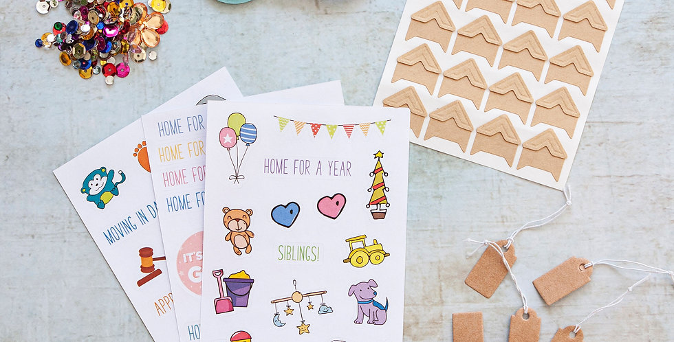 Adoption Stickers and Accessories Pack by Little Pickle Memories