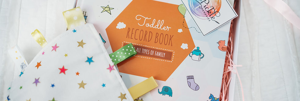 Toddler Record Book- from 1 to 5 years old