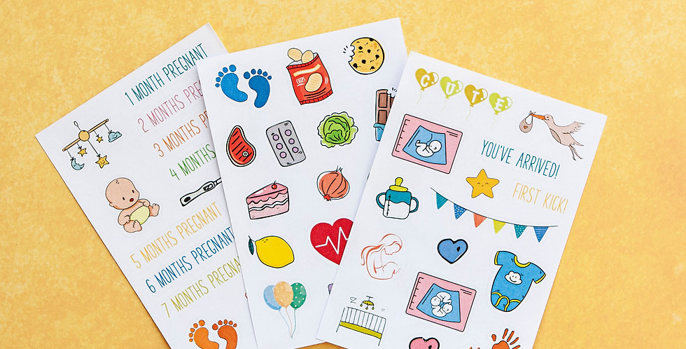 Pregnancy Sticker Sheets