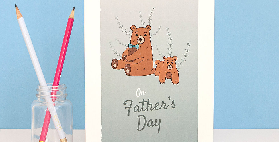 On Fathers Day Greetings Card for Male Figure