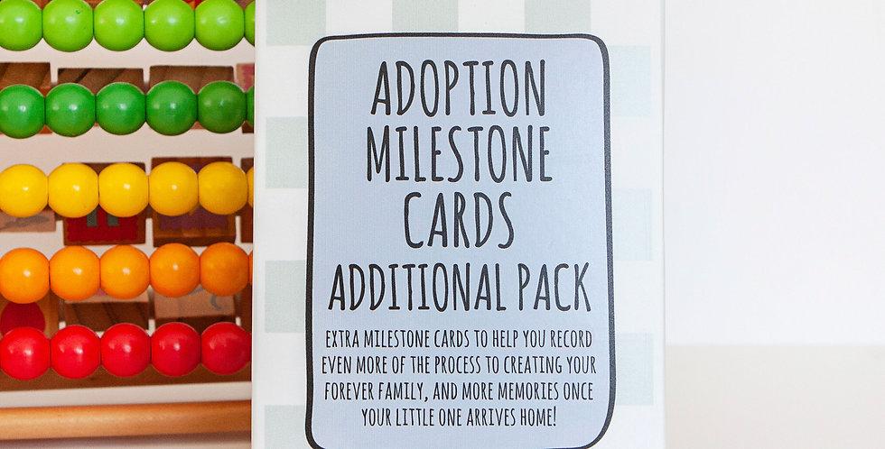 Extra Adoption Milestone Cards with Keepsake Box
