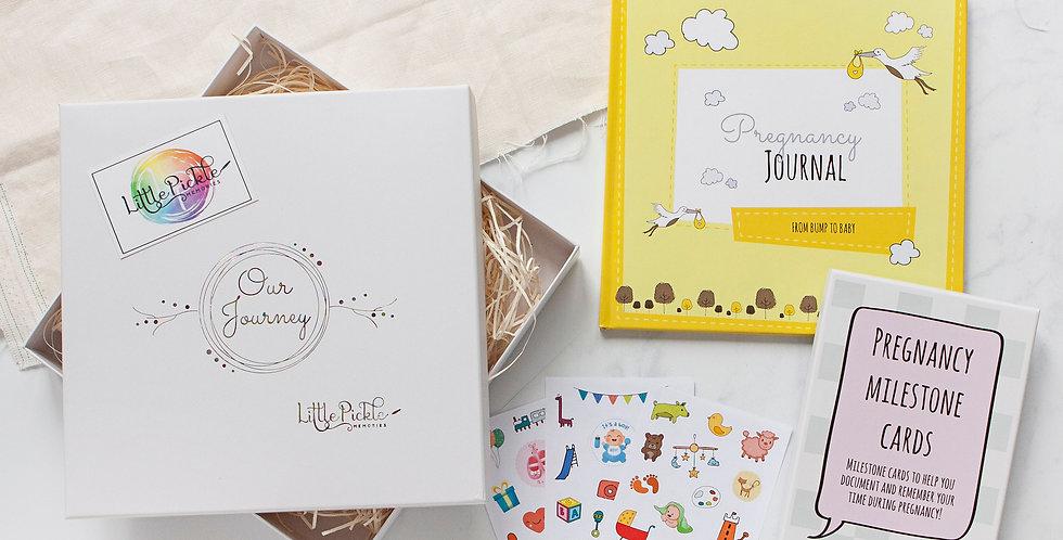 The Bump Pregnancy Box Gift Set (Pregnancy Journal, Milestone Cards & Stickers)