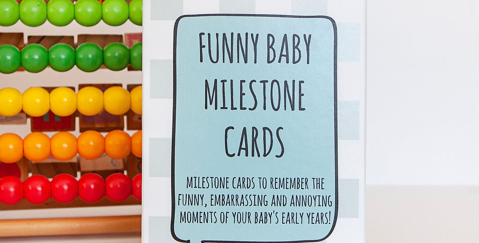 Funny Baby Milestone Cards, Comedy Memory Cards and Keepsake Box