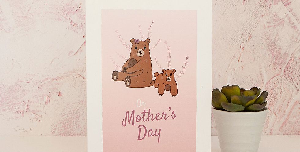 Pink On Mothers Day Greetings Card Mothering Sunday For Mother Figure