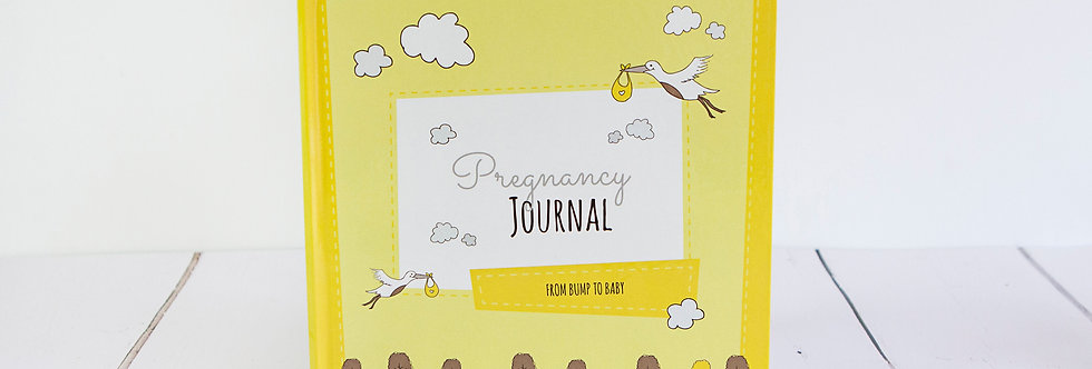 Pregnancy Journal Yellow Front Cover