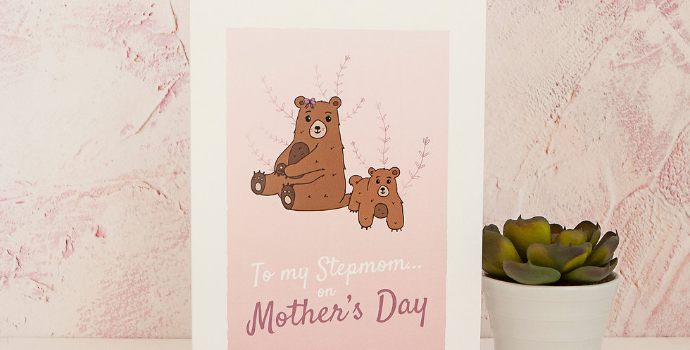 To my Stepmom on Mothers Day Greetings Card Mothering Sunday