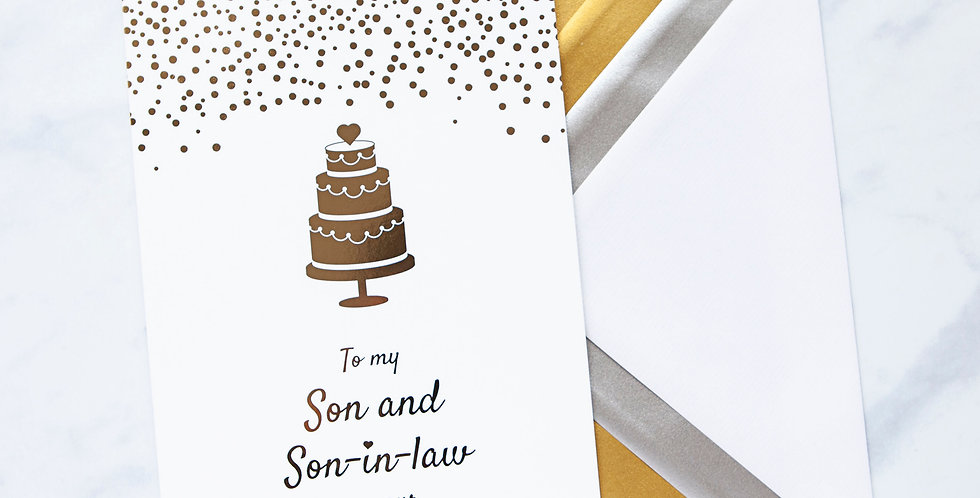 To my Son and Son in Law Wedding Day Card