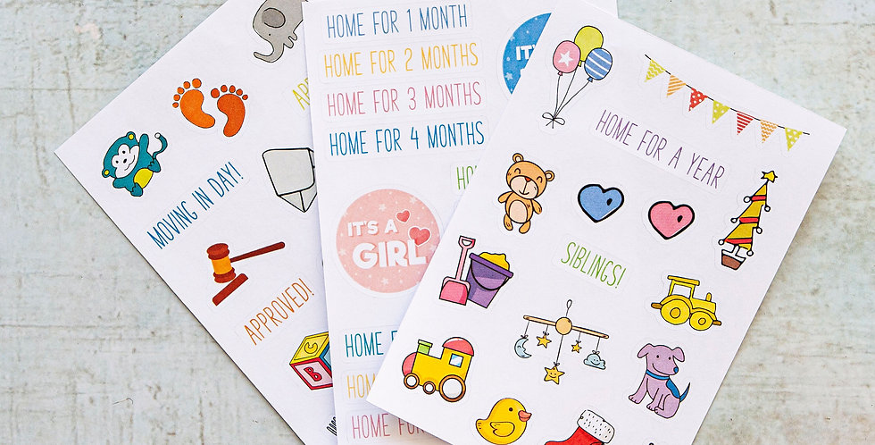 Adoption Sticker Sheets by Little Pickle Memories