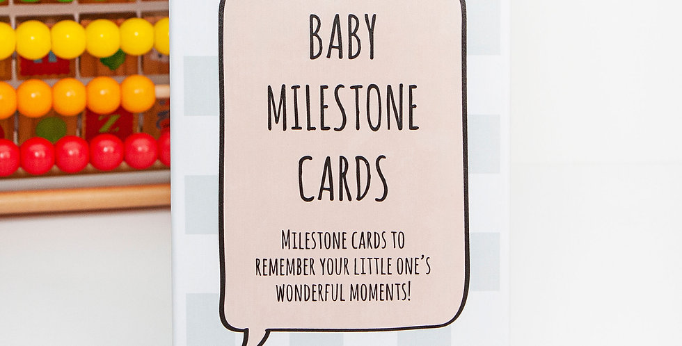 Baby Milestone Cards Pack with Keepsake Cardboard Box