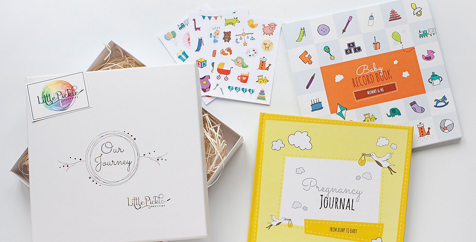 Single Mum Gift Box Set (Pregnancy Journal, Mummy and Me Book and Stickers)