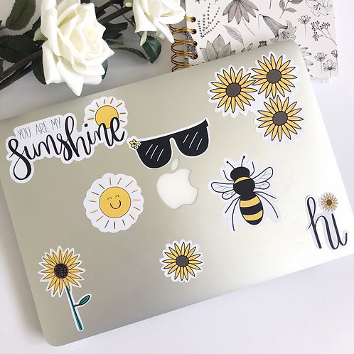 8pcs Sunflower Sticker Pack