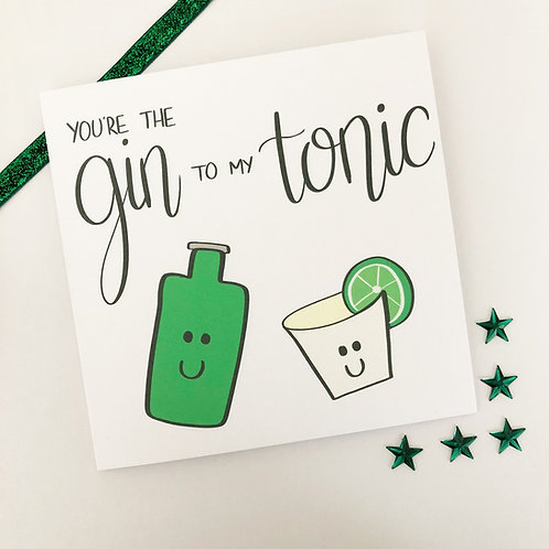 Greetings card - Gin and Tonic