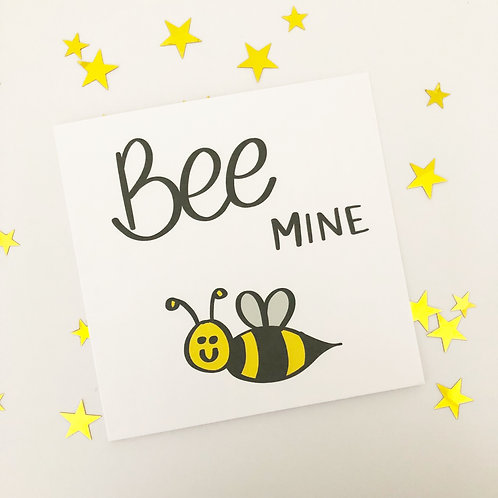 Greetings card - Bee Mine