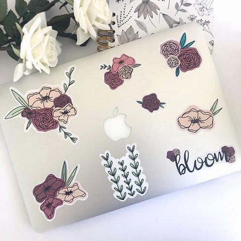 8pcs Floral Sticker Pack