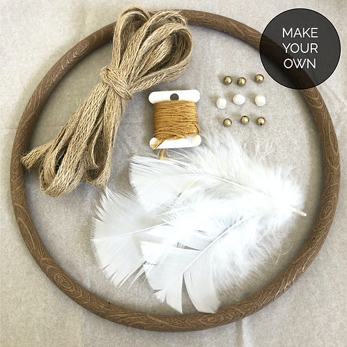 "DIY Dreamcatcher - 8"" - Ochre"