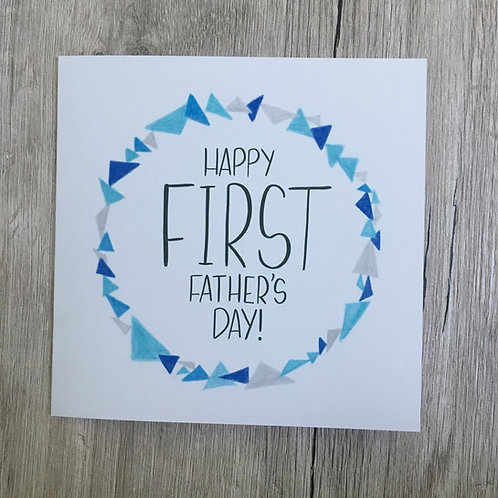 Greetings card - First Father's Day