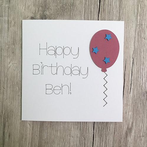 Greetings Card - Balloon