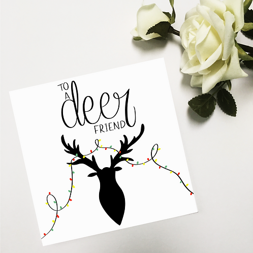 Greetings card - Deer Friend (Christmas)