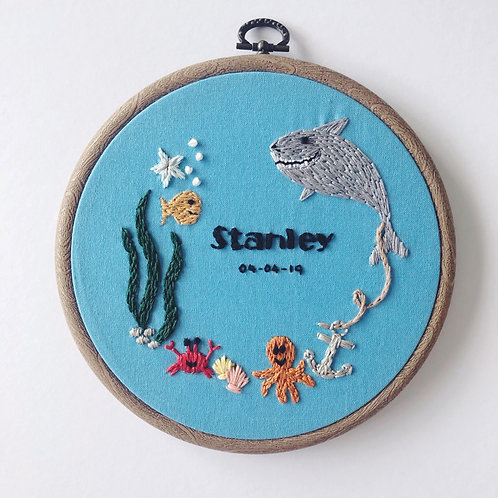 "Under the Sea 6"" Embroidery Hoop"