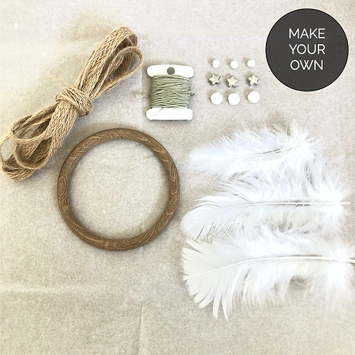 "DIY Dreamcatcher - 3"" - Sage Green"