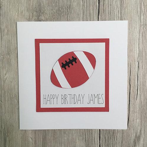Greetings card - Rugby