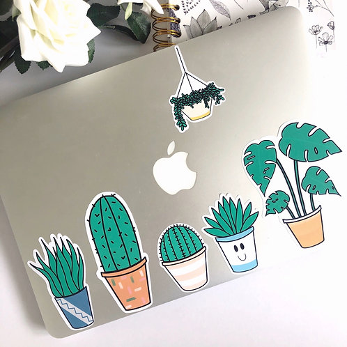 6pcs Plants Sticker Pack