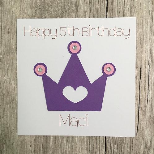 Greetings card - Princess birthday card