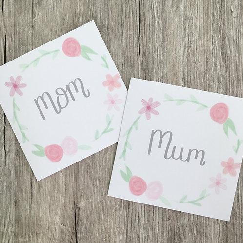 Greetings card - Floral Mum Wreath